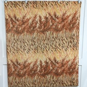 Vintage 1970s Full flat sheet with Cattails Brown